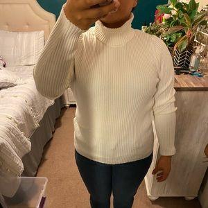 Ivory turtleneck sweater
